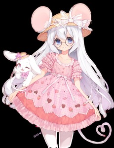 Rating: Safe Score: 3 Tags: 1boy animal animal_ears artist_name bangs blue_eyes bow bunny clothed_animal commission dress frilled_dress frilled_shirt_collar frilled_sleeves frills glasses hat highres long_hair looking_at_viewer original otoko_no_ko pastel_colors runastark smile tail unmoving_pattern upper_body white_background white_hair User: DMSchmidt