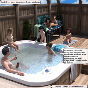 Rating: Explicit Score: 17 Tags: 1boy 3dcg 5girls bangs barefoot blunt_bangs breasts erection flat_chest hot_tub logan-x multiple_girls nipples nude penis photorealistic randy_dave_(artist) randy_dave_tribute sitting smile text twin_tails User: fantasy-lover