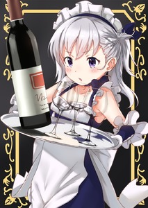 Rating: Safe Score: 0 Tags: 1girl apron azur_lane belchan_(azur_lane) belfast_(azur_lane) blue_dress blue_ribbon blush bottle braid collarbone cup dress drinking_glass elbow_gloves gloves hair_ribbon headdress highres holding holding_tray long_hair maid maid_headdress one_side_up parted_lips purple_eyes ribbon silver_hair sleeveless sleeveless_dress solo tray tsukiman white_apron white_gloves wine_bottle wine_glass younger User: DMSchmidt