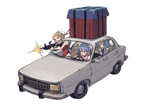 Rating: Safe Score: 0 Tags: 3girls bare_legs bat_wings black_dress blonde_hair blue_bow blue_dress blue_hair bow bun_cover car china_dress chinese_clothes cirno dress driving firing fkey flandre_scarlet ground_vehicle gun hair_bow holding holding_gun holding_weapon ice ice_wings motor_vehicle multiple_girls nopan pink_dress red_eyes red_ribbon remilia_scarlet ribbon ribbon_trim rifle simple_background sitting touhou_project weapon wings User: DMSchmidt