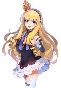 Rating: Safe Score: 0 Tags: 1girl :d anchor_symbol azur_lane blonde_hair blue_eyes bow covered_navel cowboy_shot crown eho_(icbm) eyebrows_visible_through_hair fang flat_chest gloves hair_bow highres long_hair looking_at_viewer open_mouth queen_elizabeth_(azur_lane) smile solo thighhighs white_background white_gloves white_legwear User: DMSchmidt