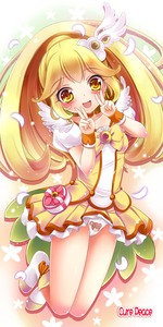 Rating: Safe Score: 2 Tags: 10s 1girl blonde_hair bow bowtie brooch character_name choker cure_peace double_v dress hair_flaps hair_ornament hairpin jewellery kise_yayoi long_hair magical_girl panchira pantsu precure print_panties shimokirin shoes skirt smile smile_precure! solo underwear upskirt v yellow yellow_bow yellow_dress yellow_eyes yellow_skirt User: Domestic_Importer