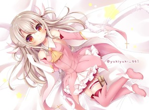Rating: Safe Score: 2 Tags: 1girl ascot bangs bare_shoulders bed_sheet blush boots breasts brown_eyes brown_hair closed_mouth collarbone detached_sleeves elbow_gloves eyebrows_visible_through_hair fate/kaleid_liner_prisma_illya fate_(series) feathers gloves hair_between_eyes hair_feathers hand_up illyasviel_von_einzbern latin_cross layered_skirt lying on_back orange_neckwear pink_feathers pink_footwear pink_legwear pink_shirt pink_sleeves pleated_skirt prisma_illya shirt skirt sleeveless sleeveless_shirt small_breasts smile solo star thigh_boots thighhighs twitter_username two_side_up white_gloves white_skirt yukiyuki_441 User: DMSchmidt