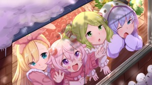 Rating: Safe Score: 2 Tags: 4girls :d :o antennae blonde_hair blue_eyes blue_hair brick_wall christmas_tree dutch_angle elbow_rest facial_mark from_above green_eyes hair_ribbon hands_on_window indoors kio_(yumekuikio) lifting_person long_hair looking_away looking_out_window looking_up mononobe_alice morinaka_kazaki multiple_girls nijisanji one_eye_closed open_mouth pink_eyes pink_hair purple_eyes ribbon rug shadow short_hair sleeves_past_fingers sleeves_past_wrists smile snow snowman snowman_costume sweater twin_tails ushimi_ichigo very_long_hair virtual_youtuber when_you_see_it window windowsill wooden_floor yawning yuuki_chihiro User: DMSchmidt