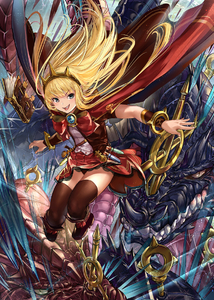 Rating: Safe Score: 0 Tags: 1girl :d bangs black_legwear blonde_hair book boots bow bracer breasts cagliostro_(granblue_fantasy) cape dragon fang_xue_jun granblue_fantasy hairband jumping long_hair looking_at_viewer open_mouth ouroboros_(granblue_fantasy) purple_eyes red_skirt skirt small_breasts smile solo spikes thighhighs tiara User: DMSchmidt
