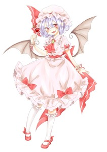 Rating: Safe Score: 1 Tags: 1girl ascot bat_wings blue_hair brooch cocktail cocktail_glass dress fang hat hat_ribbon highres jewellery maru_usagi mob_cap open_mouth pink_dress red_eyes remilia_scarlet ribbon sash simple_background smile solo touhou_project white_background wings wrist_cuffs User: DMSchmidt