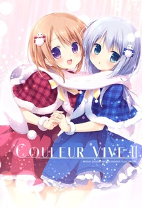 Rating: Safe Score: 0 Tags: 1girl 2girls :d :o artist_name bangs blue_capelet blue_dress blue_eyes blush bow circle_name cowboy_shot dress eyebrows_visible_through_hair frilled_dress frills fur-trimmed_capelet gochuumon_wa_usagi_desu_ka? holding_hands hoto_cocoa interlocked_fingers kafuu_chino light_blue_hair long_hair looking_at_viewer matching_outfit miyasaka_nako multiple_girls open_mouth orange_hair plaid plaid_capelet pom_pom_(clothes) purple_eyes red_capelet red_dress scarf scrunchie shared_scarf sidelocks smile snowman_hair_ornament standing striped striped_bow white_scarf wrist_scrunchie User: Domestic_Importer
