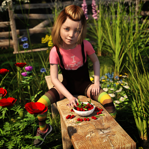 Rating: Safe Score: 13 Tags: 1girl 3dcg ariadne brown_hair cherry flat_chest flower looking_at_viewer outdoors photorealistic pose red_hyacinth sexually_suggestive shadow shoes sitting striped_legwear thighhighs zettai_ryouiki User: fantasy-lover