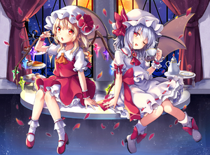Rating: Safe Score: 0 Tags: 2girls ascot bat_wings blonde_hair bloomers blue_hair bobby_socks cake cup flandre_scarlet food full_moon hat hat_ribbon kedama_milk knees_together_feet_apart mob_cap moon multiple_girls night night_sky petals puffy_short_sleeves puffy_sleeves red_eyes red_shoes red_skirt remilia_scarlet ribbon rose_petals shoes short_sleeves siblings sisters sitting skirt skirt_set sky socks star_(sky) starry_sky strawberry_cake teacup touhou_project underwear vest white_legwear window wings User: DMSchmidt