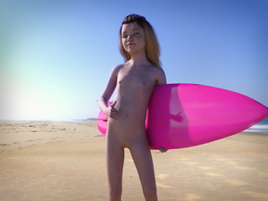 Rating: Questionable Score: 35 Tags: 1girl 3dcg ariadne barefoot beach blue_eyes brown_hair flat_chest hang_loose holding_surfboard horizon long_hair looking_at_viewer navel nipples nude ocean photorealistic pose pussy red_hyacinth reflection shadow smile standing surfboard User: fantasy-lover