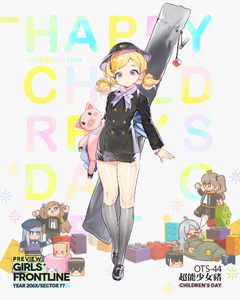Rating: Safe Score: 0 Tags: 1girl alternate_costume black_footwear black_jacket black_shorts blonde_hair blue_eyes blush bracelet character_name double-breasted flat_chest girls_frontline grey_legwear hat head_tilt holding holding_stuffed_animal jacket jewellery kneehighs looking_at_viewer low_twintails mary_janes medium_hair open_mouth ots-44_(girls_frontline) shiny shiny_skin shoes short_eyebrows short_shorts shorts solo stuffed_animal stuffed_pig stuffed_toy tareme twin_tails weapon_bag younger User: DMSchmidt