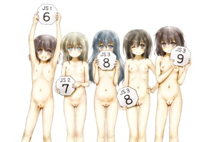 Rating: Questionable Score: 3 Tags: 5girls :d armpits arms_up black_hair blush breasts brown_hair closed_mouth esan_(llamaesan) eyebrows_visible_through_hair flat_chest holding lineup multiple_girls navel nipples nose_blush one_eye_closed open_mouth original pussy small_breasts smile uncensored User: Domestic_Importer