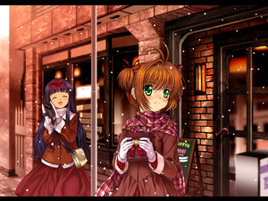 Rating: Safe Score: 0 Tags: blue_hair blush brown_hair camcorder camera cardcaptor_sakura daidouji_tomoyo gloves green_eyes hairband kinomoto_sakura long_hair muffler mutsuki_(moonknives) short_hair skirt snow twin_tails valentine User: DMSchmidt