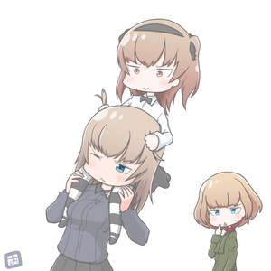 Rating: Safe Score: 0 Tags: 3girls adachi_fumio333 blonde_hair blue_eyes bow bowtie brown_eyes brown_hair carrying girls_und_panzer green_jacket hair_ribbon hairband itsumi_erika jacket katyusha long_hair long_sleeves military military_uniform multiple_girls one_eye_closed open_mouth piggyback red_shirt ribbon school_uniform shimada_arisu shirt short_hair shoulder_carry simple_background striped striped_legwear uniform white_background User: Domestic_Importer