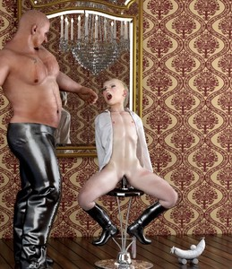 Rating: Explicit Score: 38 Tags: 1boy 1girl 3dcg age_difference american_girls_paradise banana bdsm blonde_hair blue_eyes blush boots chandelier dildo flat_chest frantz knee_boots mirror navel nipples object_insertion open_clothes open_mouth open_shirt photorealistic pussy reflection screaming sex_toy shiny shiny_skin shirt sitting spread_legs standing stool tied_hair tongue toy uncensored vaginal vaginal_object_insertion User: Software