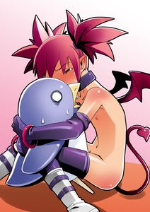 Rating: Questionable Score: 1 Tags: 1girl bad_id bat_wings blush bracelet choker demon_girl disgaea etna flat_chest hug jewellery kaeru_kenshi nude pointy_ears prinny red_hair short_hair solo stealth_sex sweat tail tears thighhighs twin_tails wings User: DMSchmidt