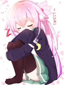 Rating: Safe Score: 0 Tags: 1girl absurdres animal_ears azur_lane bangs black_cardigan black_legwear blush cardigan cat_ears closed_eyes cosplay covered_mouth crescent green_skirt hair_between_eyes hair_ornament hair_ribbon highres kantai_collection kisaragi_(azur_lane) kisaragi_(kantai_collection) kisaragi_(kantai_collection)_(cosplay) leg_hug long_hair long_sleeves namesake nekoyanagi_(azelsynn) no_shoes open_cardigan open_clothes petals pink_hair red_ribbon ribbon shirt sitting skirt sleeves_past_fingers sleeves_past_wrists solo tears thighhighs very_long_hair white_background white_shirt User: DMSchmidt