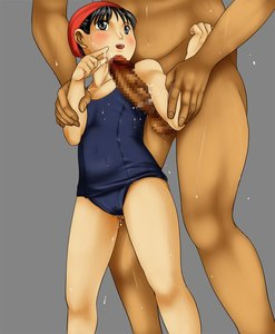 Rating: Explicit Score: 3 Tags: 1boy 1girl age_difference arm_grab armpit_sex black_eyes black_hair blush censored clothed_female_nude_male nude one-piece_swimsuit open_mouth penis precum pussy_juice sandansu school_swimsuit size_difference smile standing swim_cap swimsuit wet User: DMSchmidt