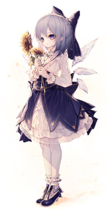 Rating: Safe Score: 0 Tags: 1girl absurdres bangs blue_bow blue_eyes blue_footwear blue_hair bow cirno dress flower frills full_body hair_between_eyes hair_bow highres hito_komoru holding holding_flower ice ice_wings layered_dress long_sleeves shoes short_hair sidelocks socks solo standing sunflower touhou_project waist_cape white_background white_dress white_legwear wings User: DMSchmidt
