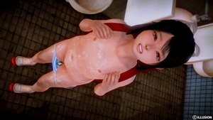 Rating: Explicit Score: 17 Tags: 1girl 3dcg bathroom black_hair cum cum_on_body cum_on_lower_body cum_on_upper_body dutch_angle from_above full_body highres hiro_(hiro1210) honey_select indoors long_hair looking_at_viewer nipples pantsu pantsu_pull photorealistic shimapan shoes socks solo stain stained_panties standing striped teeth tile_floor tile_wall tiles underwear urinal User: Domestic_Importer
