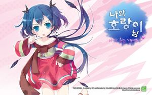 Rating: Safe Score: 0 Tags: 1girl bangs barefoot blue_eyes blue_hair dress feathers gradient_hair hair_ornament jin_young-in kkachi korean korean_clothes looking_at_viewer multicoloured_hair my_love_tiger official_art ribbon short_hair solo thighhighs tongue tongue_out translation_request twin_tails wallpaper User: Domestic_Importer