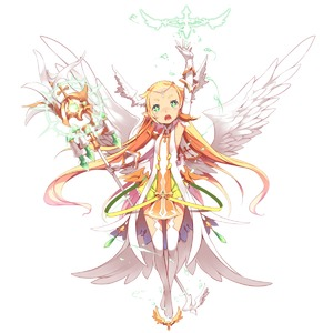 Rating: Safe Score: 1 Tags: +_+ 1girl angel angel_wings aoi_tsunami arm_up armpits bangs blonde_hair blunt_bangs boots detached_sleeves dress earrings feathered_wings feathers flat_chest gloves green_eyes highres jewellery long_hair multiple_wings original pointy_ears scepter sleeveless sleeveless_dress solo thigh_boots thighhighs white_gloves white_legwear wings User: DMSchmidt
