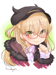 Rating: Safe Score: 1 Tags: 10s 1girl bandai_namco blonde_hair blush dancho earrings fang fang_out fur_trim glasses green_eyes hat highres horns idolmaster idolmaster_cinderella_girls jewellery jougasaki_rika lips long_hair looking_at_viewer sketch smile solo upper_body User: DMSchmidt