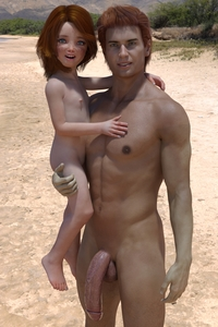 Rating: Explicit Score: 12 Tags: 1boy 1girl 3dcg age_difference amber_(mimic72) barefoot beach blue_eyes flat_chest freckles held_up looking_at_viewer mimic72 nipples nude ocean penis photorealistic pose red_hair smile standing testicles User: fantasy-lover