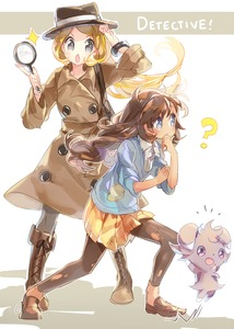 Rating: Safe Score: 0 Tags: 2girls :o ? alternate_costume black_legwear blonde_hair blue_eyes boots bracelet brown_hair cross-laced_footwear detective double-breasted english espurr grey_eyes hat holding jewellery jumping lace-up_boots leggings loafers long_hair magnifying_glass matiere_(pokemon) miniskirt multiple_girls namie-kun no_pupils no_socks pantyhose patch pleated_skirt pokemon pokemon_(creature) pokemon_(game) pokemon_xy serena_(pokemon) shadow shoes skirt torn_clothes trench_coat User: DMSchmidt