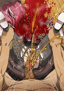 Rating: Explicit Score: 3 Tags: 1boy 1girl anal_prolapse blood decapitation guro harasaki mystia_lorelei pee pink_hair prolapse scat snuff tights touhou_project vomit User: kuro