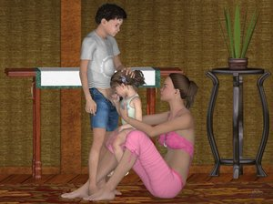 Rating: Explicit Score: 61 Tags: 1boy 1girl 3dcg age_difference barefoot closed_eyes earrings fellatio hand_on_another's_head highres holding_penis jewellery l3d looking_up mother_and_daughter oral penis photorealistic ponytail sitting standing testicles toddlercon uncensored User: Gypsy23