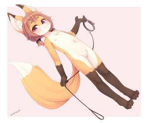 Rating: Explicit Score: 10 Tags: 1girl :< animal_ears animal_hood brown_eyes collar flat_chest fox_ears fox_girl fox_tail full_body groin highres holding hood kemono kitsune leash low_twintails monster_girl multiple_tails nipples nude original paws pink_background pussy ribbon shishigaj5 short_hair simple_background solo tail thighhighs twin_tails uncensored User: DMSchmidt