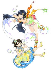 Rating: Safe Score: 0 Tags: 2girls akagi_miria akagi_miria_(cosplay) alternate_colour bangs bare_legs black_hair blunt_bangs brown_eyes bubble bubble_blowing closed_eyes cosplay costume_switch crop_top crossover dot_nose dress floating flower frilled_dress frilled_skirt frills hair_flower hair_ornament hairclip half_updo high_heels idol idolmaster idolmaster_cinderella_girls idolmaster_cinderella_girls_starlight_stage idolmaster_million_live! idolmaster_million_live!_theater_days kitakami_reika kitakami_reika_(cosplay) leaning_forward long_hair midriff miridereningen multiple_girls oversized_object shoes short_hair short_twin_tails simple_background skirt sleeveless sleeveless_dress smile sneakers twin_tails very_long_hair white_background yellow_dress yellow_footwear User: Domestic_Importer