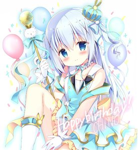 Rating: Safe Score: 1 Tags: 1girl azumi_kazuki balloon bangs bare_shoulders blue_dress blue_eyes blue_hair blue_ribbon blush boots bow breasts character_name closed_mouth collarbone crown dress eyebrows_visible_through_hair gloves gochuumon_wa_usagi_desu_ka? hair_between_eyes hair_ornament hair_ribbon happy_birthday head_tilt holding kafuu_chino knee_up long_hair microphone mini_crown ribbon sitting sleeveless sleeveless_dress small_breasts smile solo tilted_headwear two_side_up very_long_hair white_footwear white_gloves x_hair_ornament yellow_bow User: DMSchmidt
