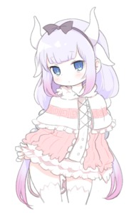 Rating: Safe Score: 6 Tags: 1girl blue_eyes dragon_girl dragon_tail dress dress_lift gothic_lolita gradient_hair headband horns kanna_kamui kobayashi-san_chi_no_maidragon lolita_fashion long_hair multicoloured_hair nezumi_inu protected_link purple_hair solo_focus tail twin_tails white_background User: DMSchmidt