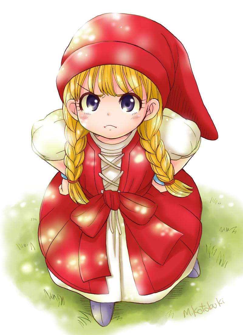 1girl Blonde Hair Blue Eyes Braid Dragon Quest Dragon