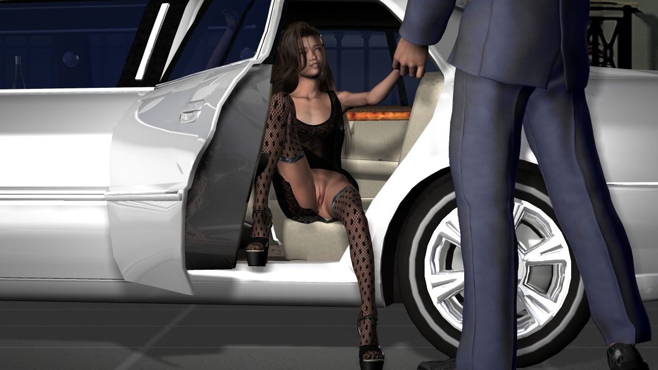 1boy 1girl 3d custom girl 3dcg brown skin chain dildo