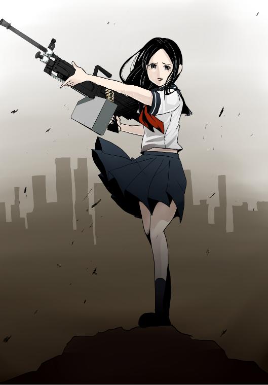 machine gun hair